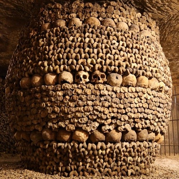 Catacombes de Paris   130 steps to go down and 83 steps back up to street level. Tickets go on sale on site only, no online booking available.  Open daily from 10am to 8pm, except Mondays and public holidays. Last admission: 7pm. 10€.
