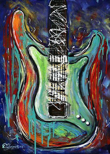 138 best guitar painting images on pinterest guitars musicals and guitar art. Black Bedroom Furniture Sets. Home Design Ideas