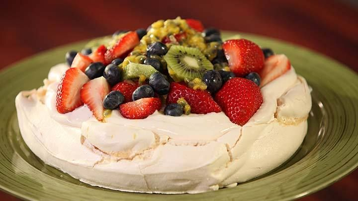 Pavlova with Fresh Summer Fruit Recipe from Everyday Gourmet with Justine Schofield
