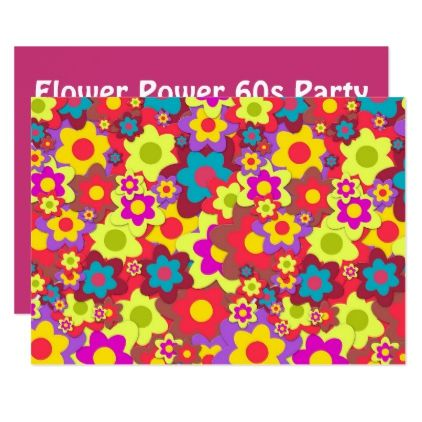 Hippy 60s retro party theme card   party gifts gift ideas diy customize. Best 25  Retro party themes ideas on Pinterest   50s party themes