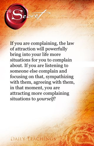 so true stop complaining and enabling others to do so!  Life is too short promote what you love instead of bashing what you hate