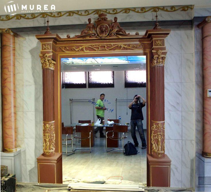 """Mural decorativo para show room """"Dynafur"""" Madrid 2013, más trabajos similares en: http://murea.es/decorativos-y-exteriores/"""