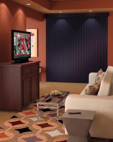 Custom Hunter Douglas Vertical Blinds For Your Living Room