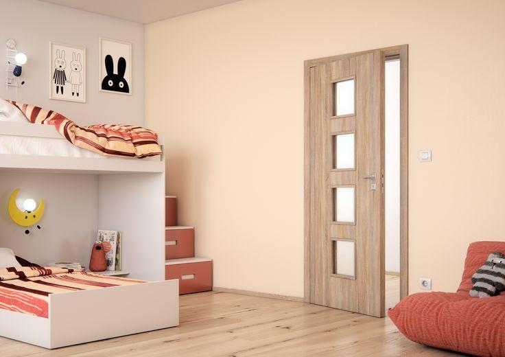 Dveře do dětského pokoje Sapeli - DOMINO Sapdecor Dub