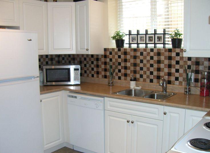 The 25 best sticky tile ideas on pinterest sticky tile the social home diy renters backsplash with vinyl tile solutioingenieria Choice Image