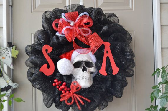 Sons of Anarchy Inspired Christmas Wreath with by CustomWreathArt, $65.00