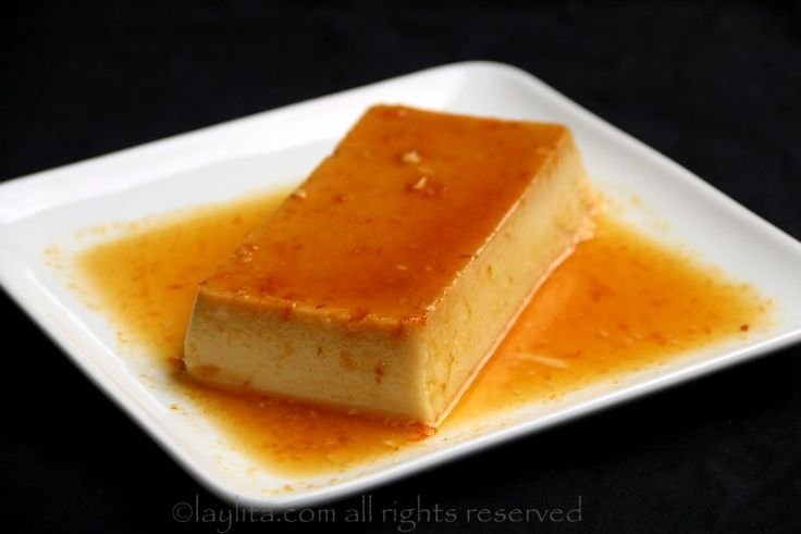 Coconut flan with orange caramel {Flan de coco con caramelo de naranja}