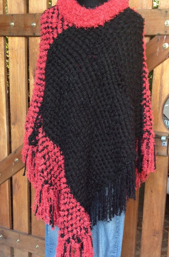 Hand Woven Poncho /Wrapping shawl/ women/ teenagers/ by Cozyyarn