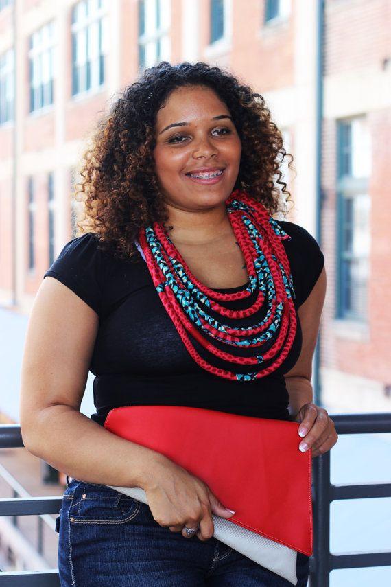 Collar africano africano collar Multistrand impresión collar