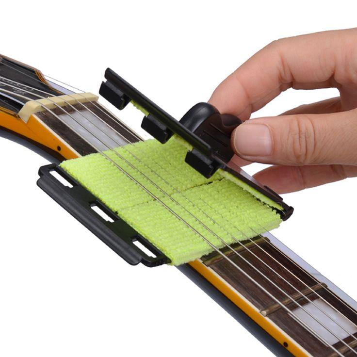 Acoustic Listrik Bass Guitar String Cleaner Cepat-set Sikat Alat untuk Senar Banjo Ukulele Alat Musik