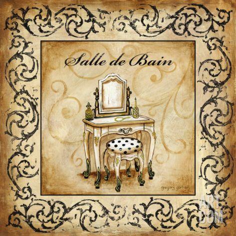 Classic Salle De Bain Print by Gregory Gorham at eu.art.com