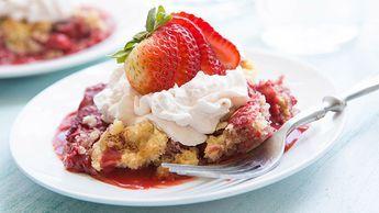 Strawberry Cream Dump Cake recipe - from Tablespoon!