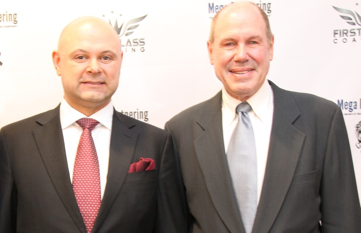 Shawn Shewchuk and Micheal Eisner (former CEO of Disney)