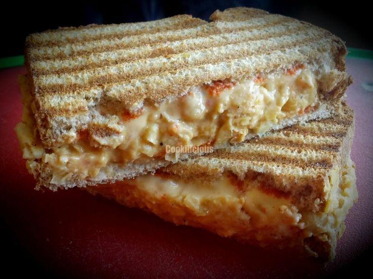 Hummus flavored Chickpea Toast