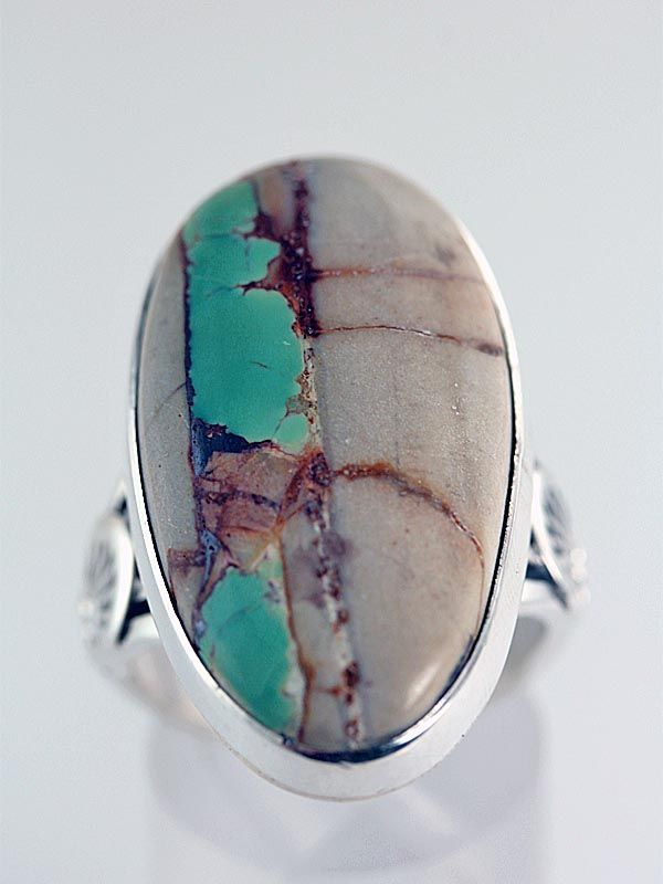 Native American Boulder Turquoise Jewelry Ring 9