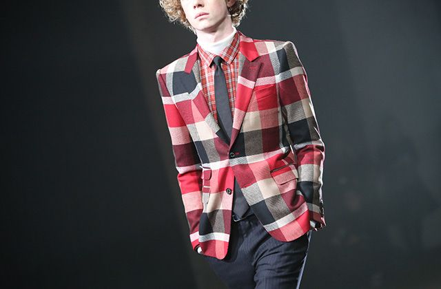 aw15 blacklabel crestbridge Debut Runway Crestbridge check