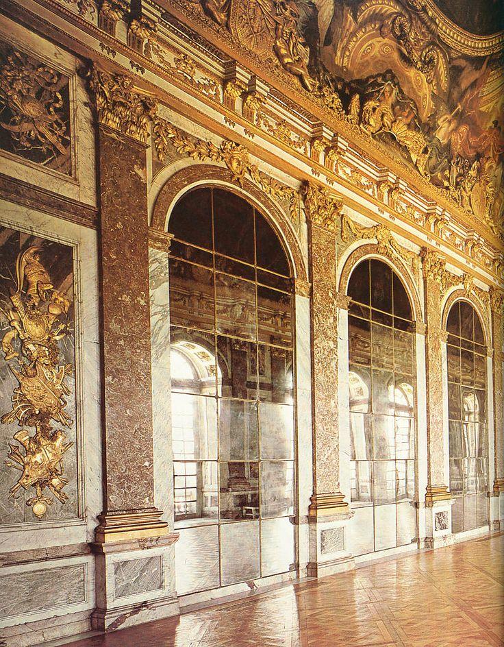 Palacio de versalles galer a de los espejos versalles for Salon los espejos