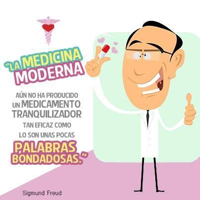 """""""La medicina moderna aún no ha producido un medicamento tranquilizador tan eficaz como lo son unas pocas palabras bondadosas."""" #SigmundFreud #Citas #Frases @Candidman"""