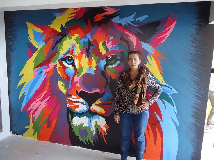 mural lion of the tribe of Judah