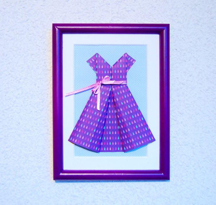 Cadre déco en Origami Robe de Pluie : Décorations murales par petitspapierscelestes