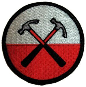 """Pink Floyd - Hammers Patch. 3"""" round patch can be ironed on or sewn on. Officially licensed Pink Floyd merchandise."""