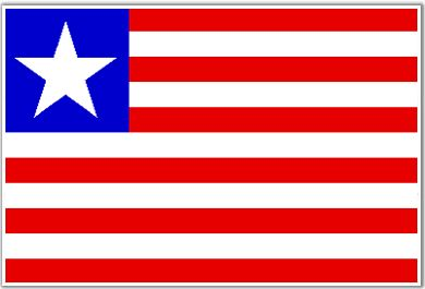 Liberia Flag - Download Picture of Blank Liberia Flag For Kids to Color