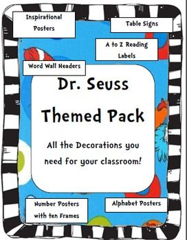 This is a great resource for teacher's with a Dr. Seuss themed room! Love!