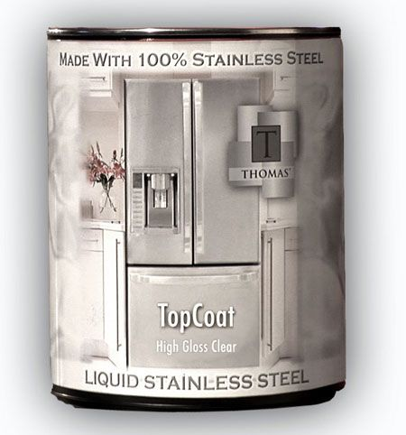 Thomas� Liquid Stainless Steel - Products - YOU CAN PAINT YOUR COUNTER TOPS WITH THIS STUFF!