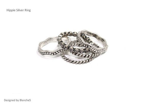 Hippie Silver Rings by Myfunny on Etsy, $15.15