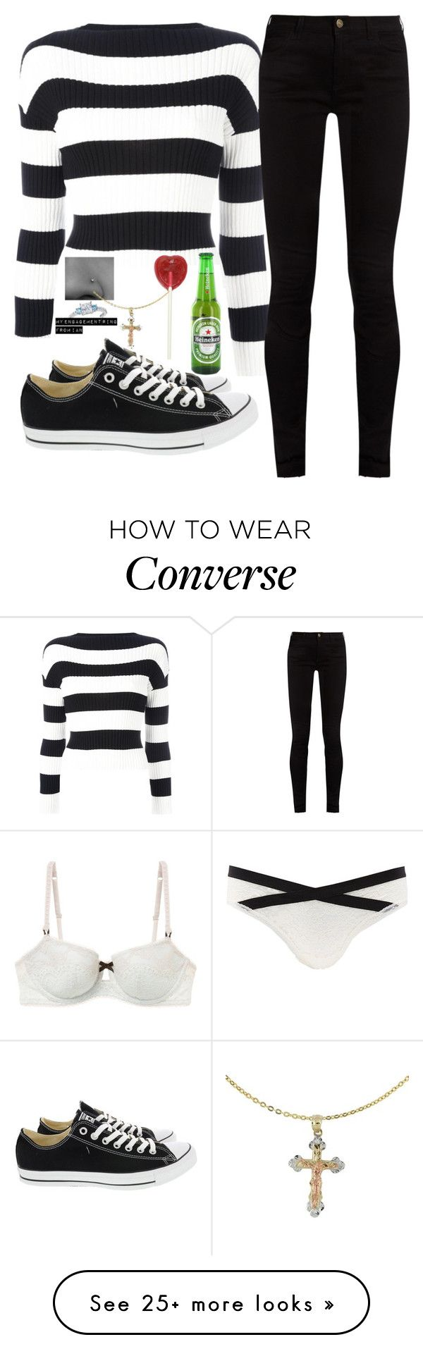 """""""Celebrating Mine and Ian's engagement with the Gallagher's!"""" by j-j-fandoms on Polyvore featuring Heidi Klum Intimates, Charlotte Russe, Boutique Moschino, Gucci, Converse, Cross and Amour"""