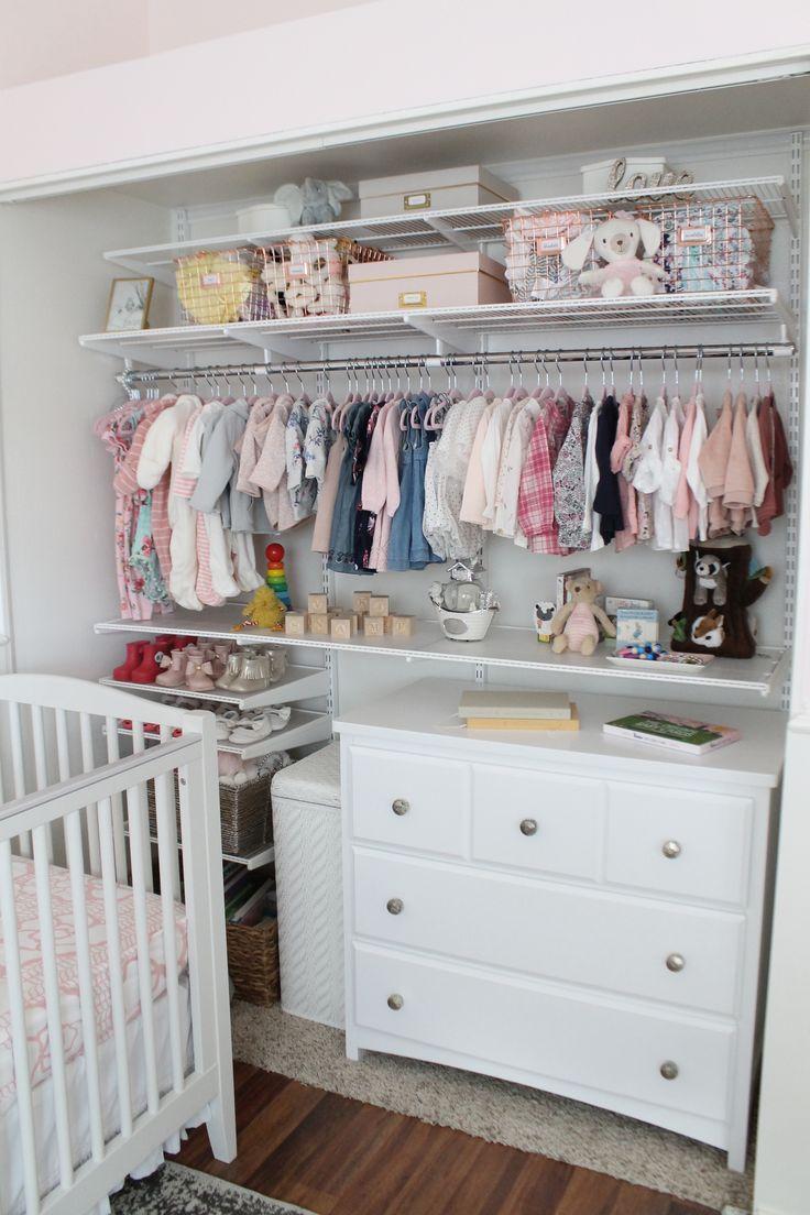Twin Girls Nursery Storage and Organization