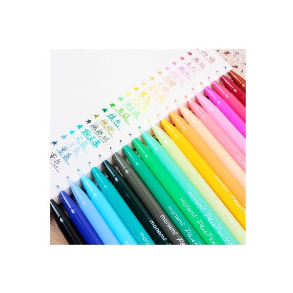 Set of 24 Color Korean Cute Stationery DIY Painting Drawing Watercolor... ($6.80) ❤ liked on Polyvore featuring home, home decor, lettering signs, text signs, joy sign and typography signs