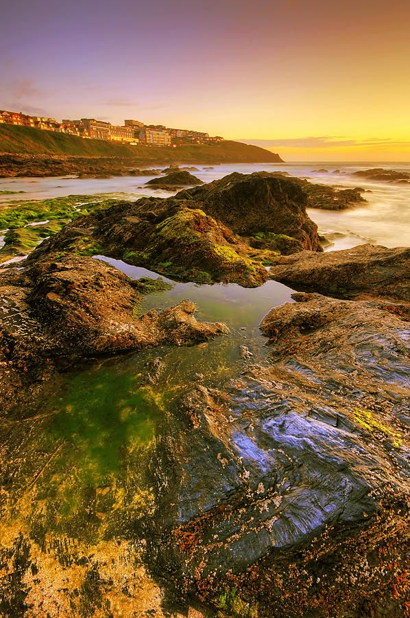 ✮ Sunset by the ocean - Newquay, UK