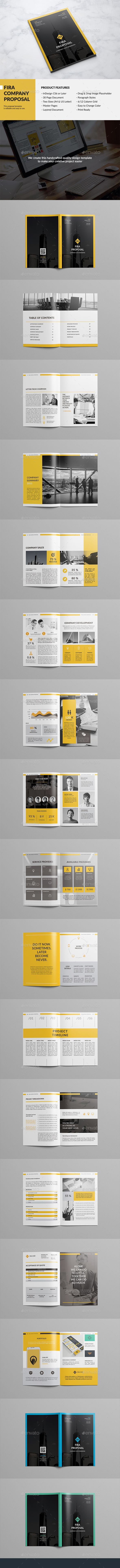 Fira Company Proposal Template InDesign INDD. Download here: http://graphicriver.net/item/fira-company-proposal/15706253?ref=ksioks