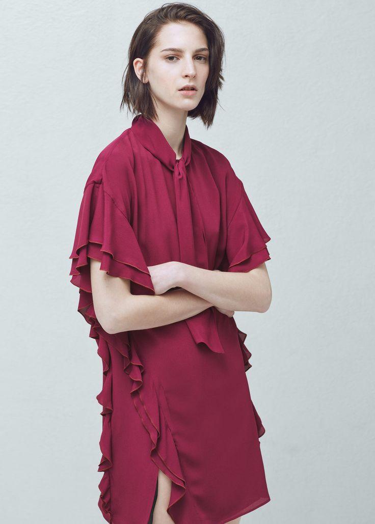 Vestido volantes - Vestidos de Mujer | MANGO