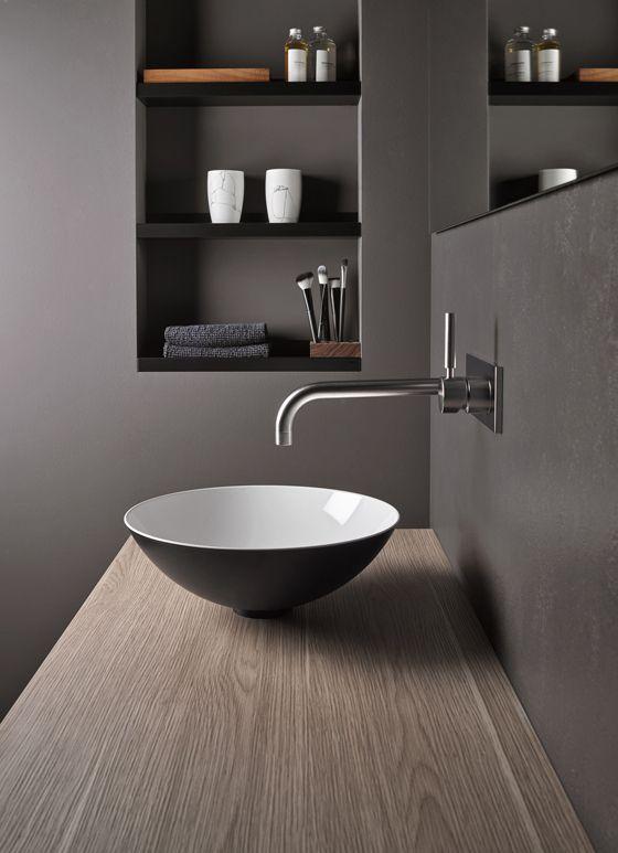 Come arredare un bagno moderno grigio scuro | Arredamento nel 2019 ...