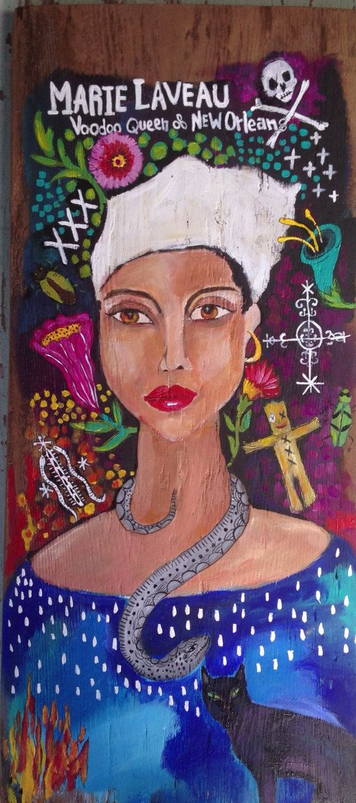 Hey, I found this really awesome Etsy listing at https://www.etsy.com/listing/198115852/louisiana-art-marie-laveau-folk-art-sale