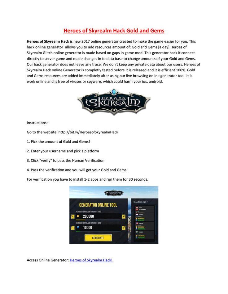 Heroes of Skyrealm Hack Online Gems Generate