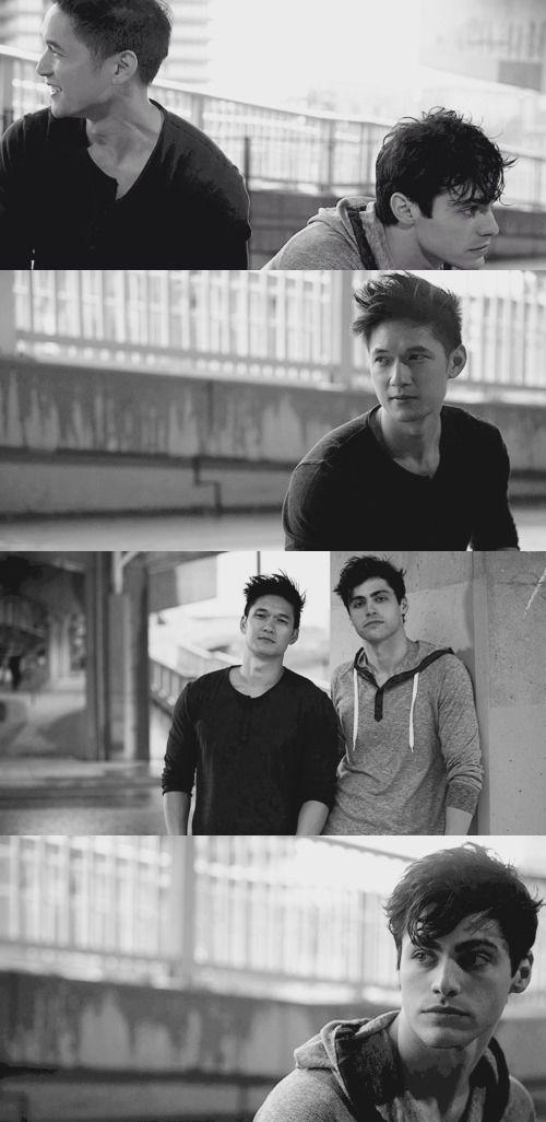 Malec || Shadowhunters cast || Matthew Daddario and Harry Shum Jr || Alec Lightwood and Magnus Bane