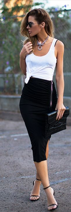 Simple black & white. - sexy/casual