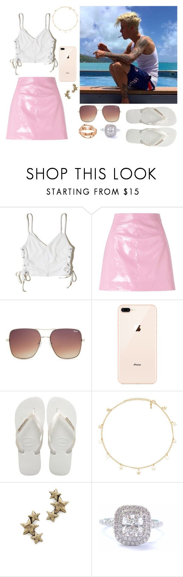 """Sem título #439"" by isabelalalbarelli on Polyvore featuring Hollister Co., Miss Selfridge, Justin Bieber, Topshop, Havaianas, 8 Other Reasons, Avant Garde Paris e Tiffany & Co."