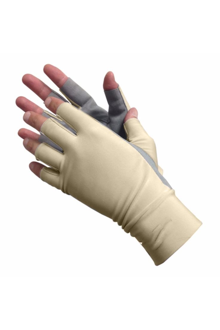 Sun Gloves with Grip-UPF 50 Sun Protective Gloves. Keep your hands looking young and age spots away! Perfect for outdoor sports and work, they can be worn for fishing, paddle sports, hiking, bouldering, gardening, driving, horseback riding and cycling.