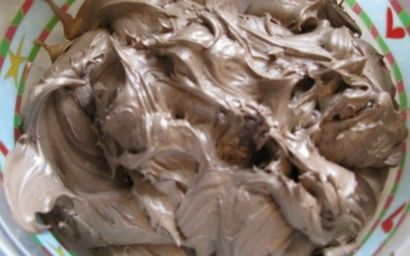 Chocolate Marshmallow Fluff Frosting  Just made it...Great consistency for cupcakes & tastes like a Wendy's Frosty or a Chocolate Malt..Yummy!