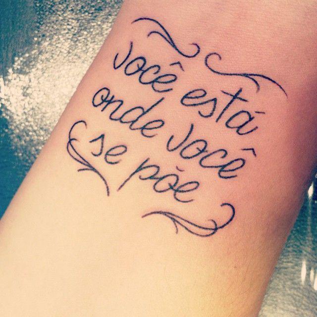 """Tatuagem feita por <a href=""""http://instagram.com/luanaxaviertattoo"""">@luanaxaviertattoo</a>!  E você, está onde quer?"""