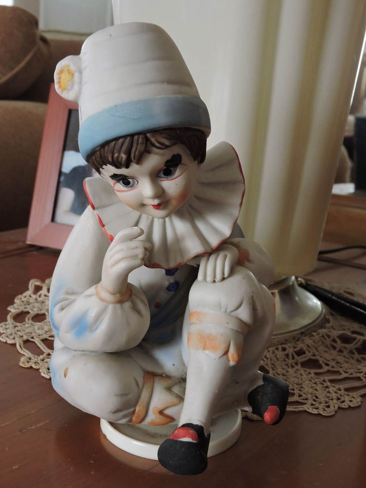 Clown Figurine. Musical Figurine, Send In The Clowns, Music Box by AntiqueShabby on Etsy