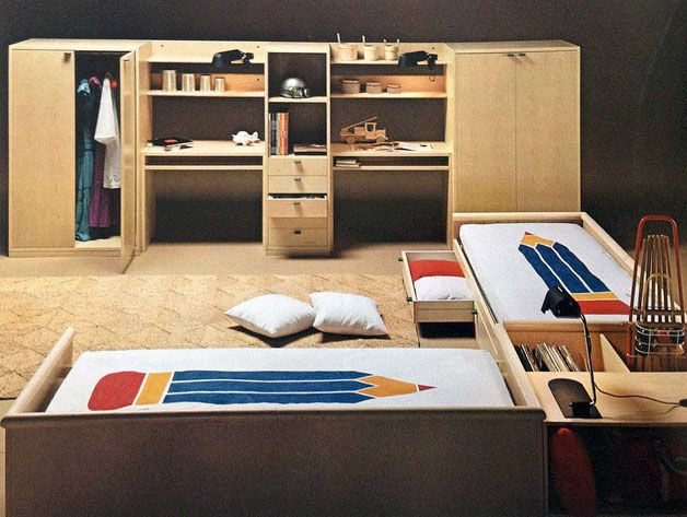 Awesome kids rooms and spaces featuring design from the 70s.