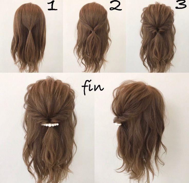 Süße und leichte Frisur
