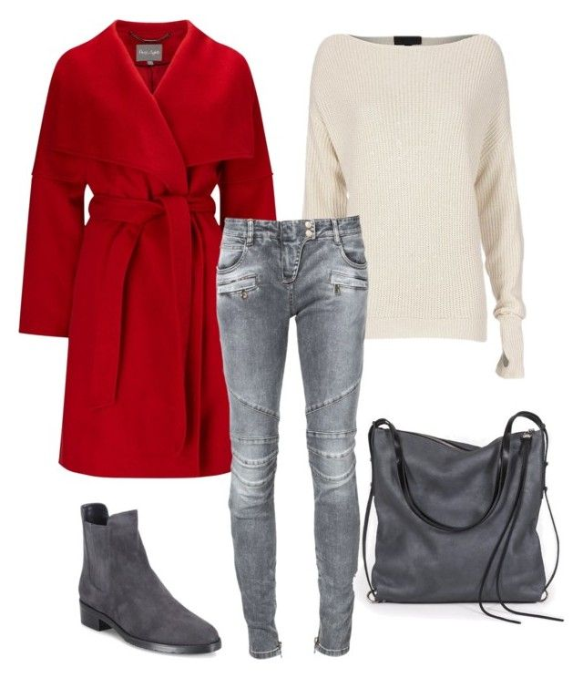 """LOVE"" by slavka-cesnek on Polyvore featuring Phase Eight, Exclusive for Intermix, Balmain, Stuart Weitzman and Ina Kent"