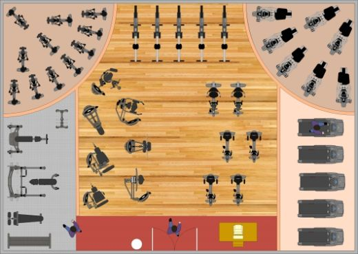 Design planning gym design 520 369 pixels gym for Gym design layout