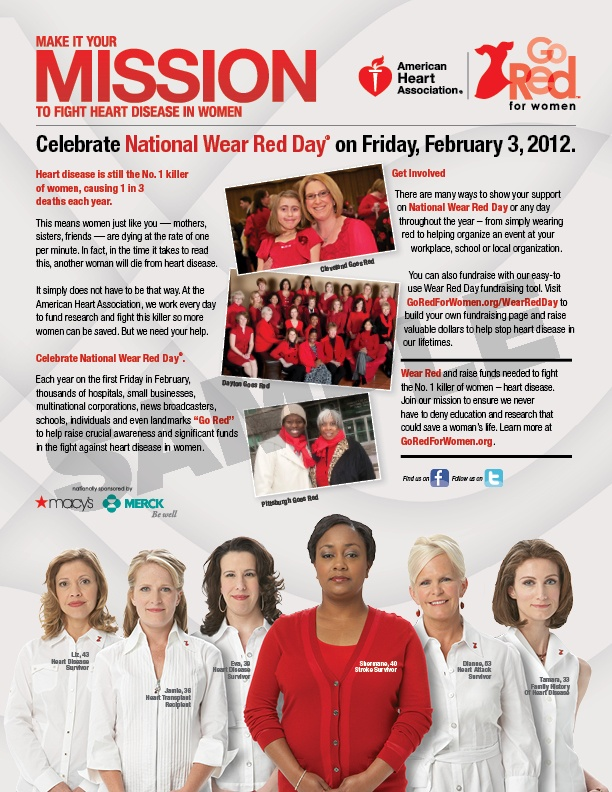 Being aware of my Heart Health and encouraging other women to take care of their heart health is one way I express #dsfierceliving. I am also going to rock the color red on Friday, February 3 for National Wear Red Day. Are you?